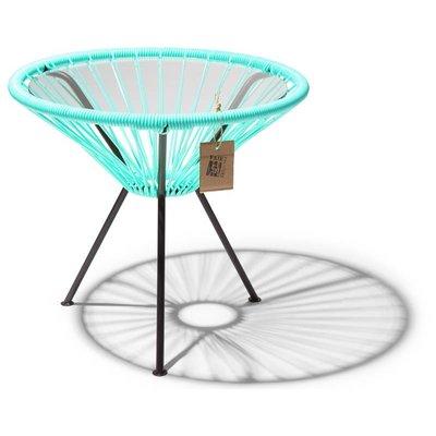 Table Japón turquoise clair avec plateau en verre