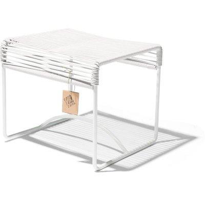 Xalapa banc/pouf blanc, cadre blanc