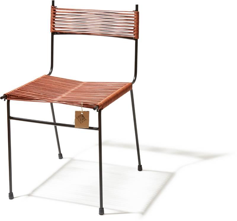 Sedia da pranzo polanco in pelle sedie originali acapulco for Sedia acapulco