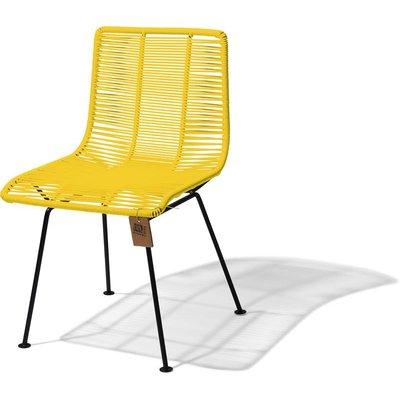 Chaise de salle à manger jaune