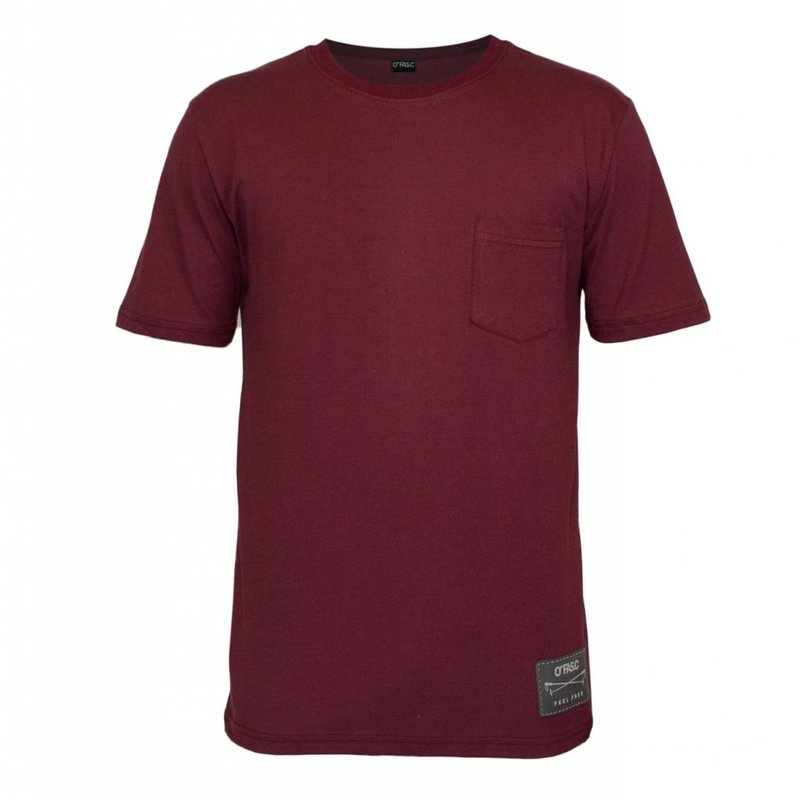 Pocket Ace T-Shirt Burgundy