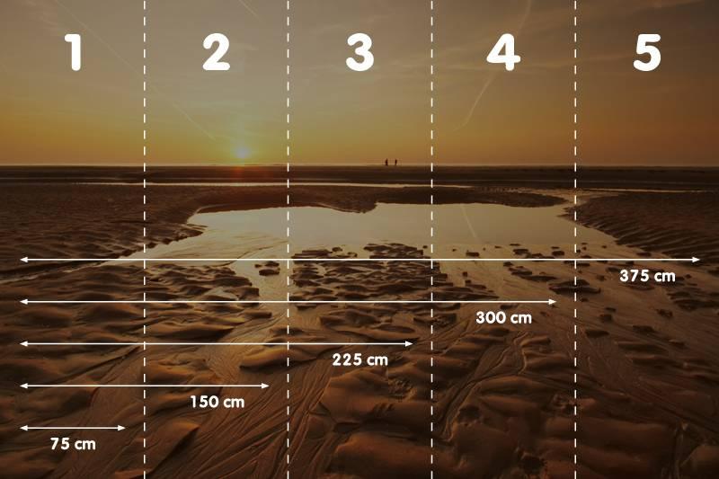 Zelfklevend fotobehang 'zonsondergang op het strand' - DecoDog