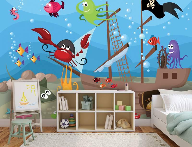 Behang Kinderkamer Vissen : Behang kinderkamer vissen: behang kinderkamer vissen beste