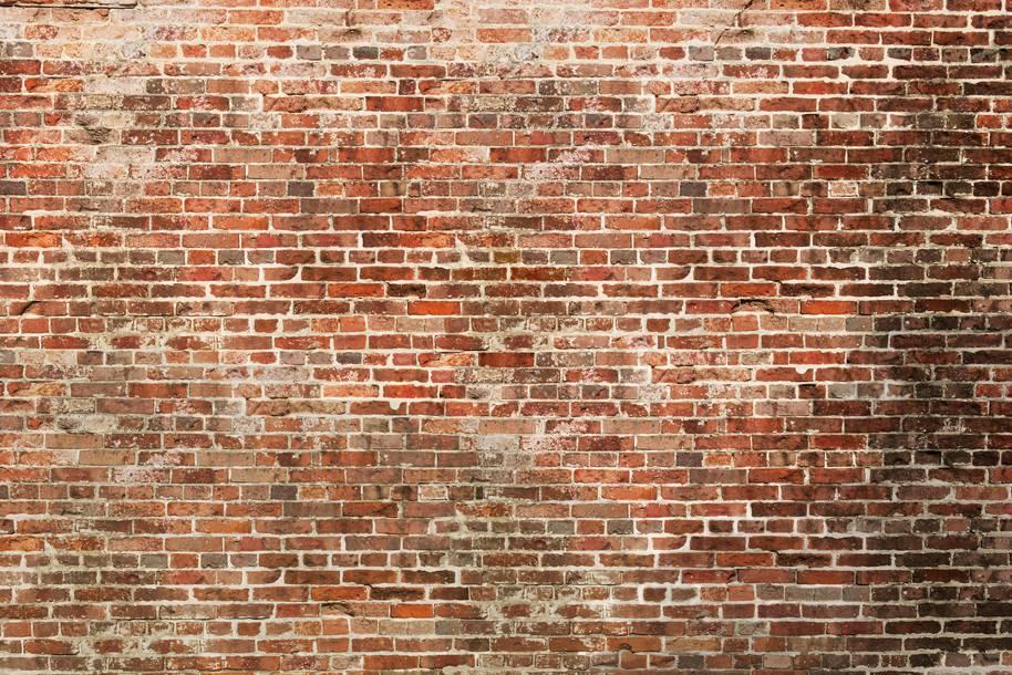 Zelfklevend fotobehang: Eeuwenoude bakstenen muur - DecoDog