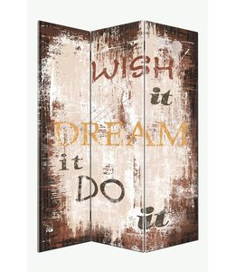 Kamerscherm Wish it Dream it Do it