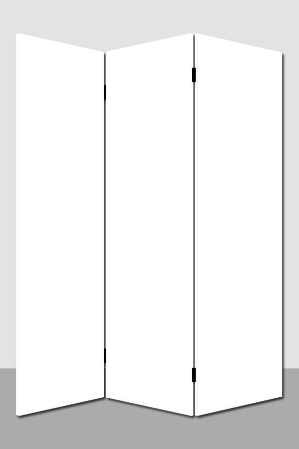 Kamerscherm Blank 3 panelen