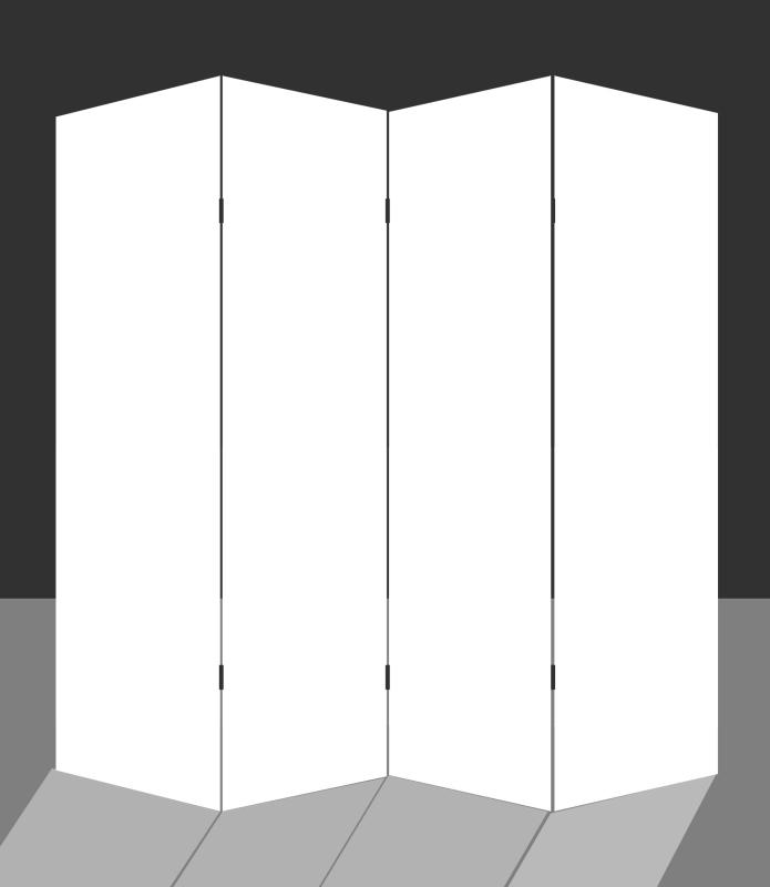 Kamerscherm Blanco 4 panelen