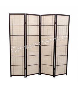Kamerscherm - Roomdivider 4 panelen