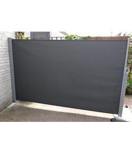 Oprolbaar Windscherm Donker Grijs 300x160 cm