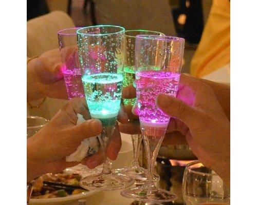 Set van 4 LED Champagneglazen