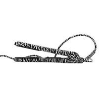 José Eber Ceramic Rubberized Zebra Stijltang