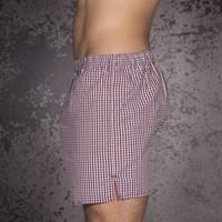 D.E.A.L. wijde boxershorts rood/blauw/wit ruitdessin