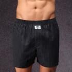 D.E.A.L. wijde boxershorts zwart gestreept