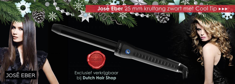 Exclusief bij Dutch Hair Shop de José Eber 25mm zwarte krultang met Cool Tip