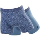 Cavello Underwear Two-pack boxershorts Blue Flower