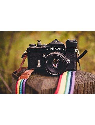 Rainbow funky camera strap