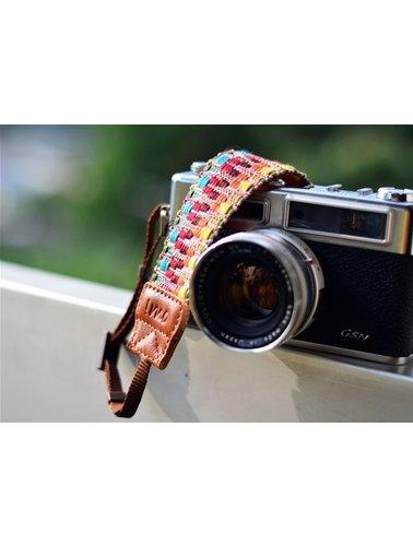 Geweven kleuren camera riem