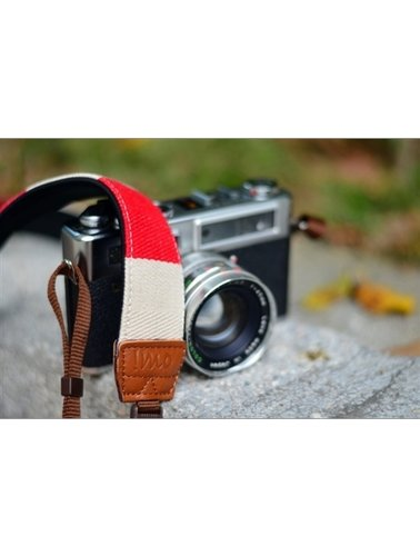 Red with white stripes strap