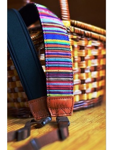 Indian red stripes camera straps