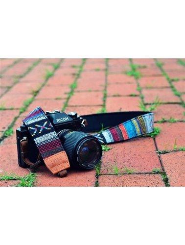 Grey Aztec Camera Strap