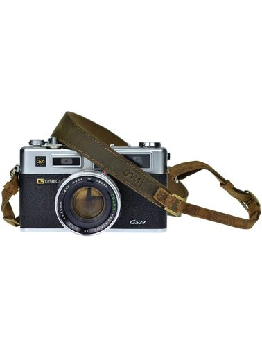 Camera strap Olive Brown leather