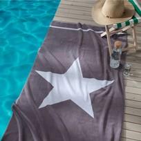 Seahorse strandlaken Star Grijs 100x180 cm 500 gr/m2 velours