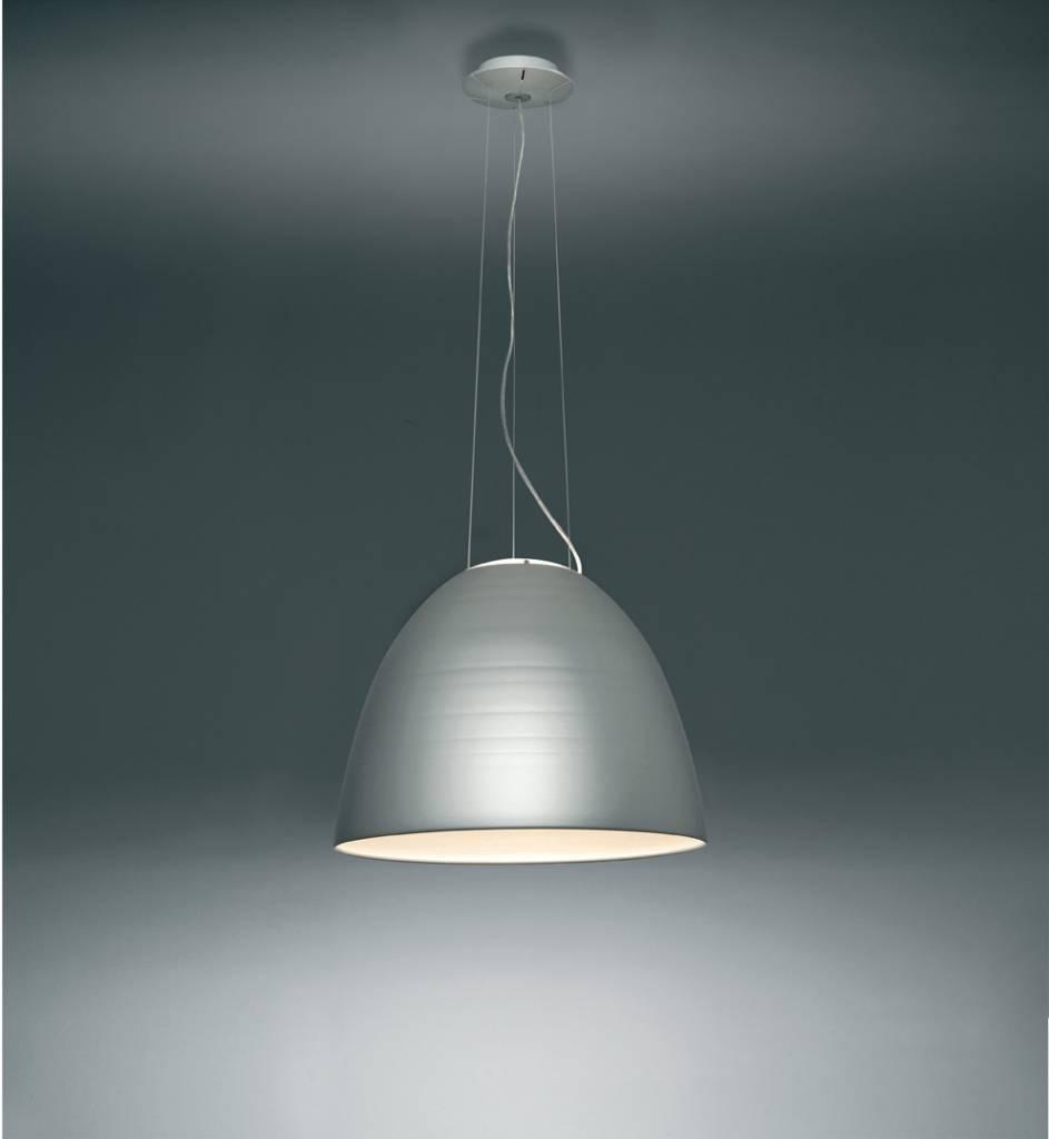 Nur hanglamp kleur alu en antraciet grijs lucente for Artemide verlichting