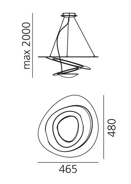 Artemide Pirce Micro Led Suspensione Led