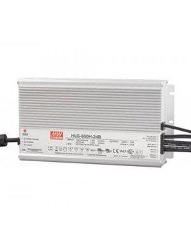 Lucente Meanwell Leddriver 600W 24V IP67 dimbaar