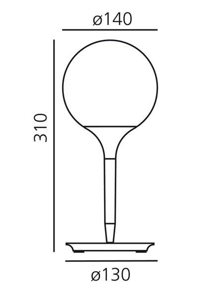 Artemide Castore 14 tafel