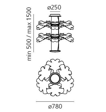 Artemide chlorophilia hanglamp lucente - Artemide lichtarmatuur ...