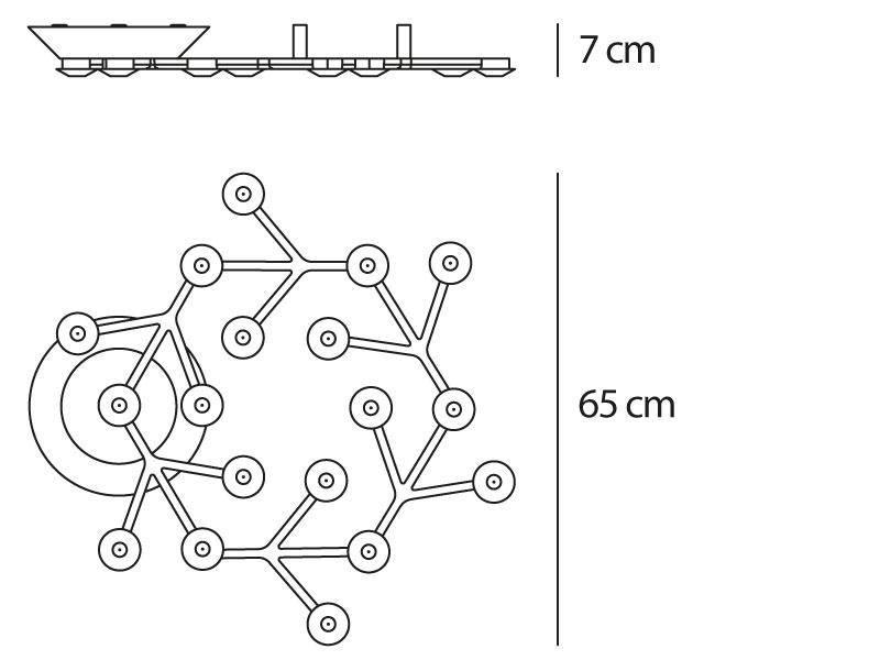 Artemide Artemide Led Net Circle Decken