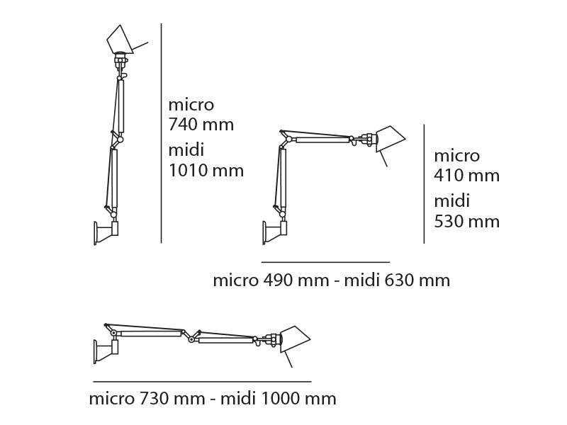 Artemide Artemide Tolomeo Micro Led Wall
