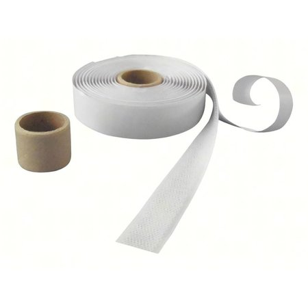 Haakband met plakstrip (harde kant), 20 mm. breed, wit, binnengebruik