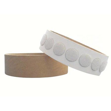 Rondjes haakband plakbaar, 13 mm. diameter, wit