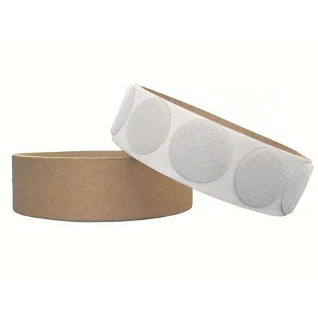 Rondjes haakband plakbaar, 22 mm. diameter, wit