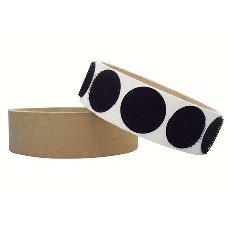 Rondjes haakband plakbaar, 22 mm. diameter, zwart