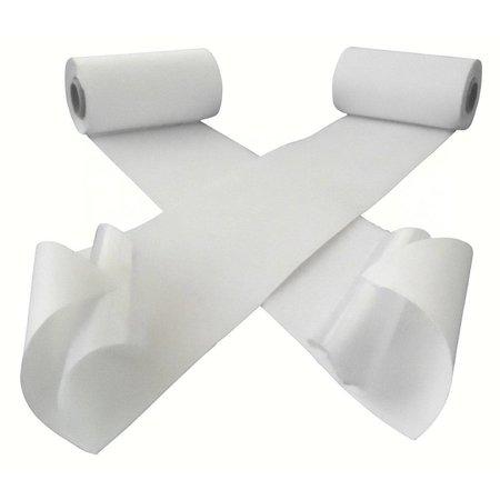 Klittenband zelfklevend, harde + zachte kant, 100 mm. extra breed, wit, binnengebruik