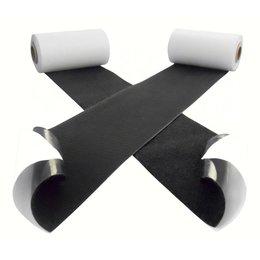 Klittenband plakbaar extra breed, 100 mm., zwart
