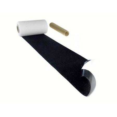 :usband met plakstrip (zachte kant), 100 mm. breed, zwart, binnengebruik