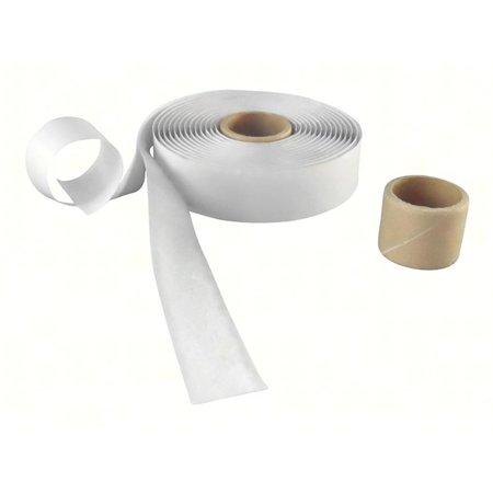 Lusband met plakstrip (zachte kant), 20 mm. breed, wit, buitengebruik