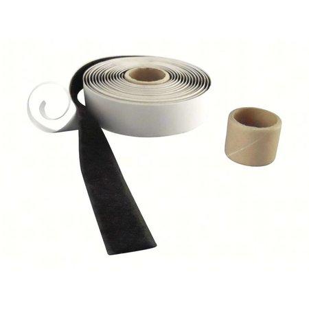 Lusband met plakstrip (zachte kant), 20 mm. breed, zwart, buitengebruik