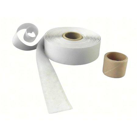 DynaLok :usband met plakstrip (zachte kant), 25 mm. breed, wit, binnengebruik