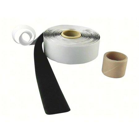 :usband met plakstrip (zachte kant), 25 mm. breed, zwart, binnengebruik