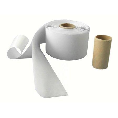 Lusband met plakstrip (zachte kant), 50 mm. breed, wit, buitengebruik