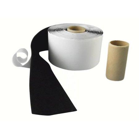 Lusband met plakstrip (zachte kant), 50 mm. breed, zwart, buitengebruik