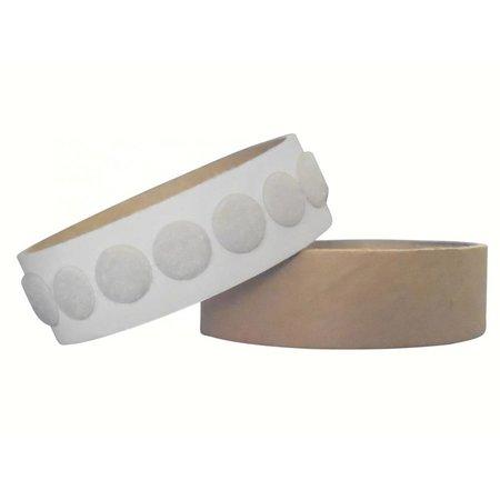 Rondjes lusband plakbaar, 13 mm. diameter, wit
