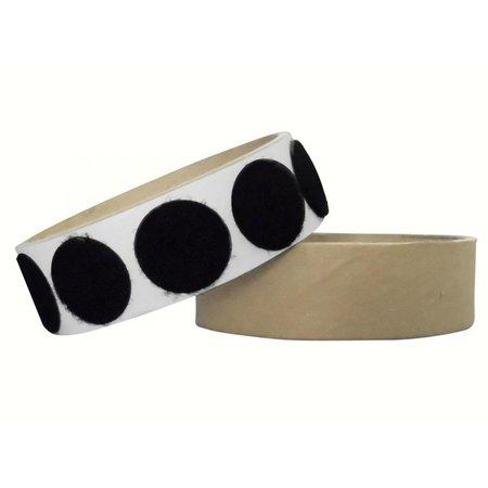 Rondjes lusband plakbaar, 22 mm. diameter, zwart