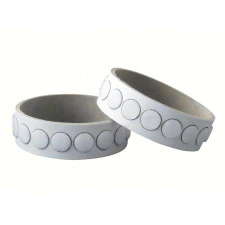 DynaLok Klittenband rondjes plakbaar, 13 mm. diameter, wit