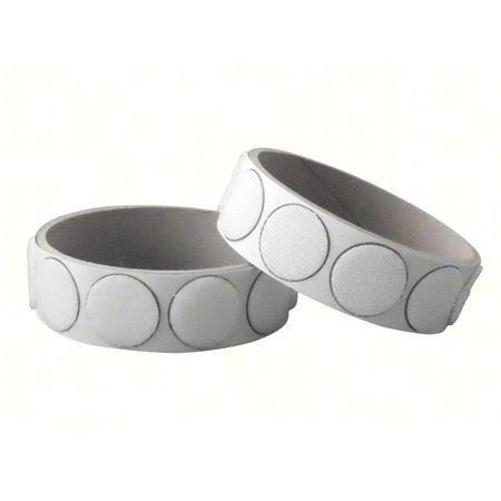 Klittenband rondjes plakbaar, 22 mm. diameter, wit